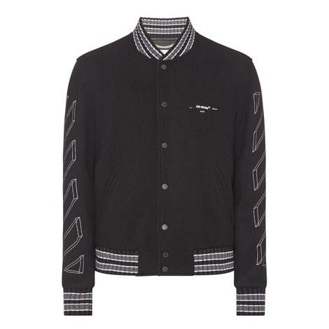 3D Diagonal Stripe Varsity Jacket, ${color}