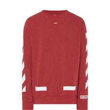 Diagonal Stripe Crew Neck Sweatshirt