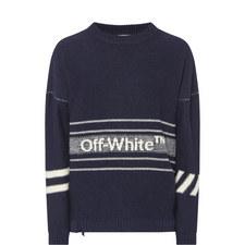 Logo Stripe Sweater