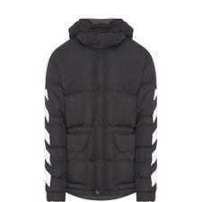 Diagonal Stripe Down Jacket