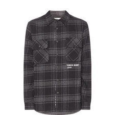 Quote Flannel Check Shirt