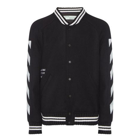 Diagonal Stripe Varsity Jacket, ${color}