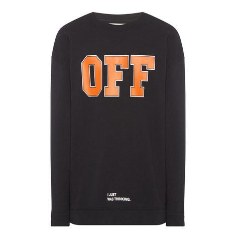 """Off"" Print Sweatshirt, ${color}"