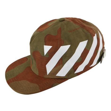 Diagonal Stripe Camo Cap, ${color}