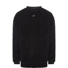 Shearling Crew Neck Sweatshirt