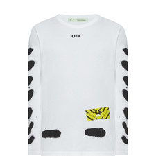 Diagonal Spray Print Long Sleeve T-Shirt