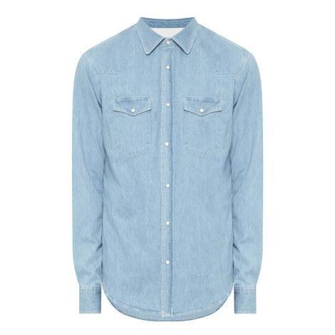 Snap Button Denim Shirt, ${color}