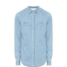 Snap Button Denim Shirt