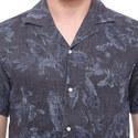 Leaf Print Bowling Shirt, ${color}