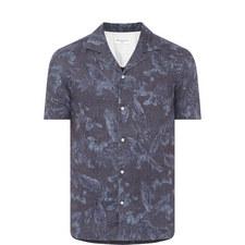 Leaf Print Bowling Shirt