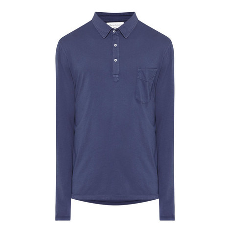 Long Sleeve Jersey Polo Shirt, ${color}