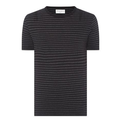 Crew Neck Stripe T-Shirt, ${color}