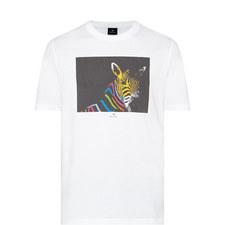 Zebra Photo Print T-Shirt