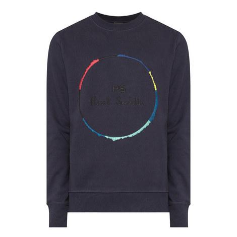Circle Print Sweatshirt, ${color}