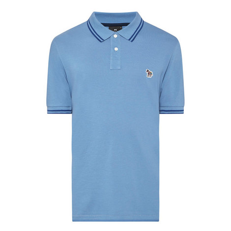 Stripe-Tipped Polo Shirt, ${color}