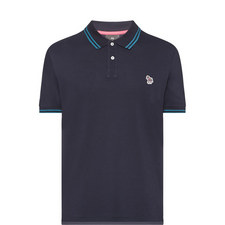 Stripe-Tipped Polo Shirt