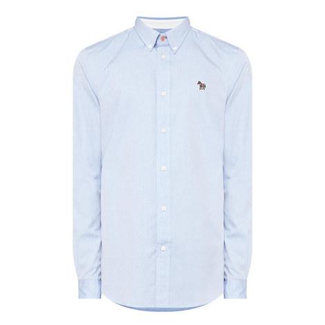 Zebra Appliqué Oxford Shirt, ${color}