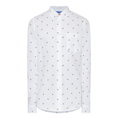 Dot Pattern Tailored Fit Shirt, ${color}