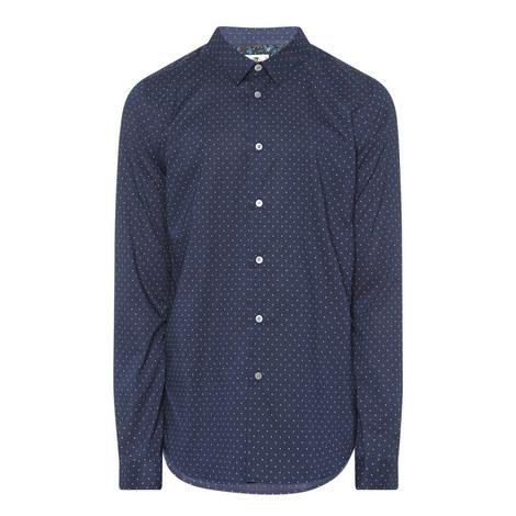 Polka Dot Slim Fit Shirt, ${color}