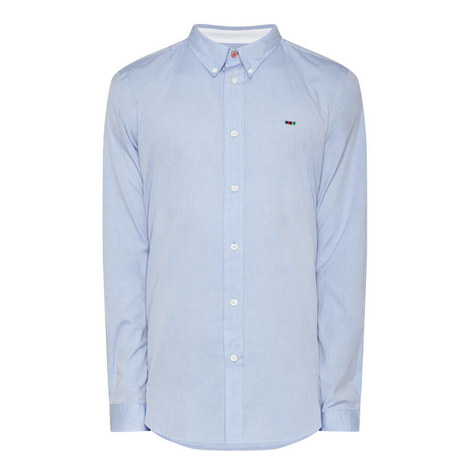 Chest Stripe Oxford Shirt, ${color}