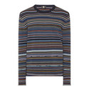 Multi-Stripe Crew Neck Sweater, ${color}
