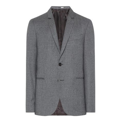Slim Fit Flannel Blazer, ${color}