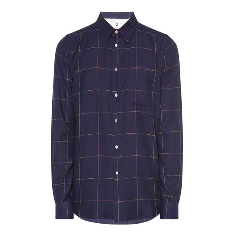 Wide Check Shirt, ${color}