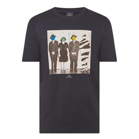 Line-Up Photo Print T-Shirt, ${color}