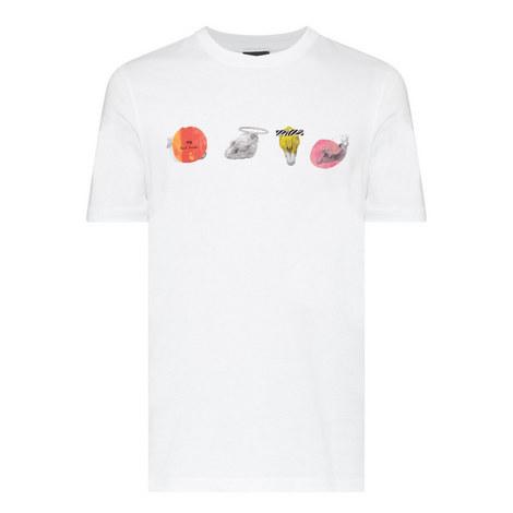 Skull Print T-Shirt, ${color}