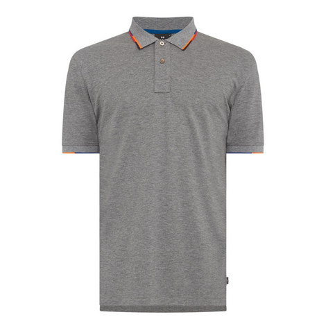 Colour-Block Tipped Polo Shirt, ${color}