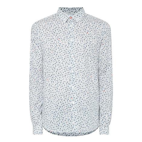 Floral Print Slim Fit Shirt, ${color}