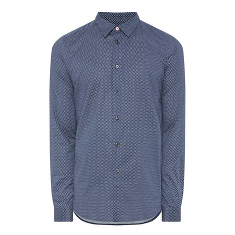 Micro-Print Slim Fit Shirt, ${color}