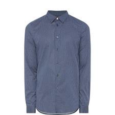 Micro-Print Slim Fit Shirt