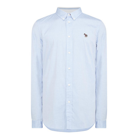 Zebra Appliqué Oxford Shirt, ${color}
