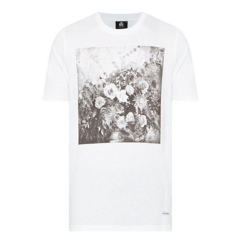 Floral Photo Print T-Shirt, ${color}