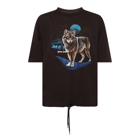 Wolf Crew Neck T-Shirt, ${color}