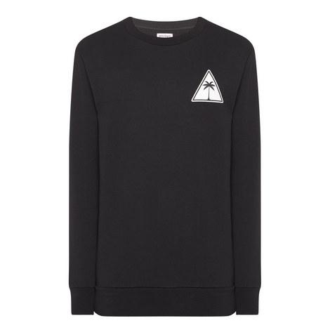 Palm Tree Print Sweatshirt, ${color}