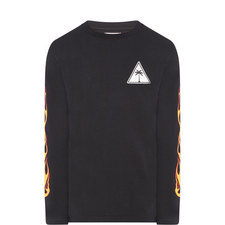 Palm Flames Long Sleeve T-Shirt