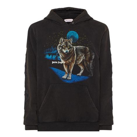 Wolf Print Hoodie, ${color}