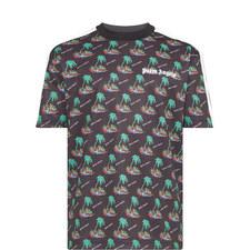 Palm Island Print Track T-Shirt