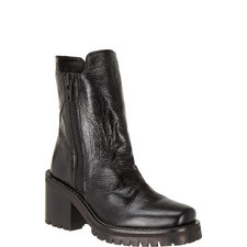 High Rise Leather Boots
