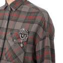 Jewelled Plaid Shirt, ${color}