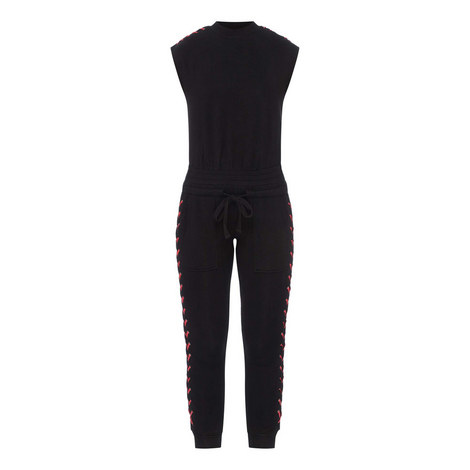 Leather Laced Jumpsuit, ${color}