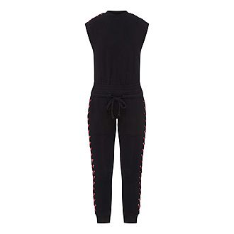 Leather Laced Jumpsuit