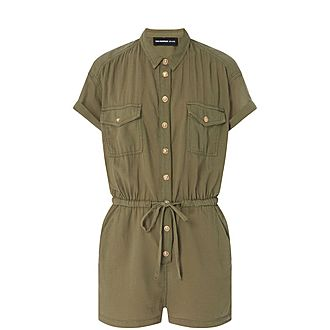 10cc083f9a Sale THE KOOPLES SPORT Tencel Playsuit Now €124.00. Was €248.00