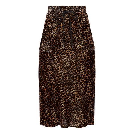 Safari Leopard Print Skirt, ${color}