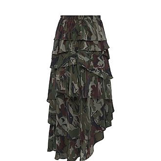 Contemporary Camouflage Skirt