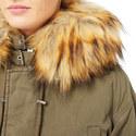 Faux Fur Collar Parka, ${color}