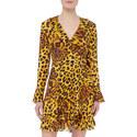 Ghost Leopard Wrap Dress, ${color}
