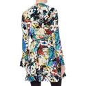 Multi Print Wrap Dress, ${color}